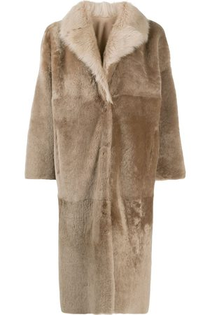 LISKA Single breasted reversible coat - Neutrals
