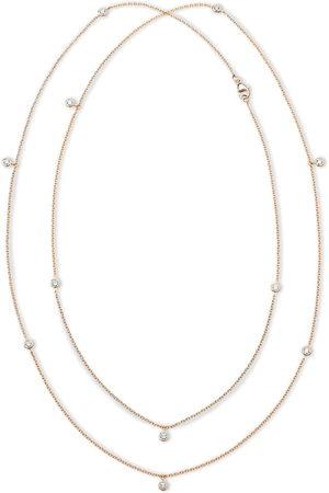 De Beers 18kt rose diamond Clea long necklace