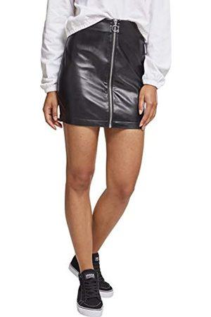 Urban classics Women's Ladies Faux Leather Zip Skirt