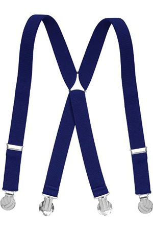 Playshoes Boy's Kids Fully Adjustable Elasticated Suspenders with Football Clips Braces