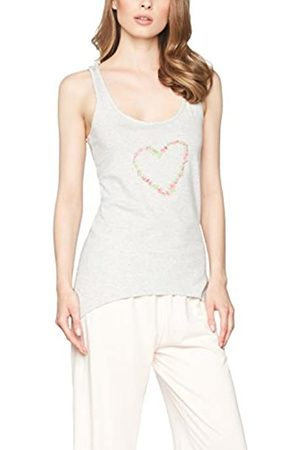IRIS & LILLY Amazon Brand - Women's Pyjama Top in Cotton Racerback, S