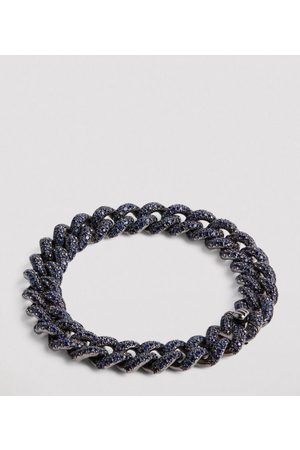 Shay Black Gold and Sapphire Links Bracelet