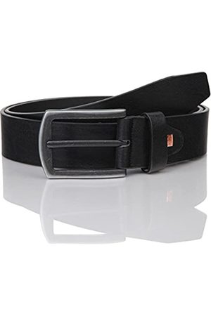 Lindenmann The Art of Belt Mens leather belt/Mens belt, full grain leather belt with texture, unisex, Größe/Size:115