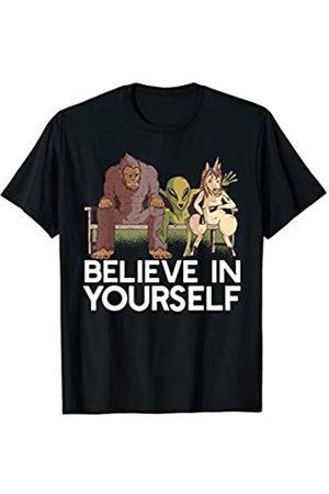 IGFOOT SASQUATCH YETI Cryptozoology Big Foot Tees BELIEVE IN YOURSELF! Sasquatch Alien Unicorn Funny Meme T-Shirt