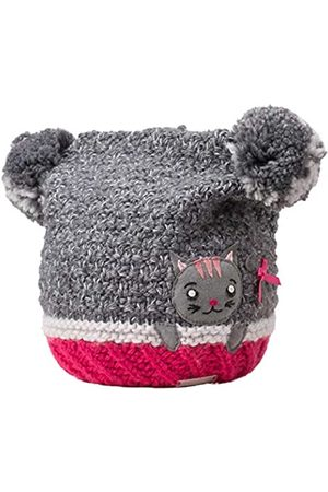 Giesswein Winter Beanie Kalte Nase ONE - Warm hat with Soft Merino Wool, Fluffy Bobble Made of Wool, Sweet appliqué, Lined with Fleece, Beanie for Girls