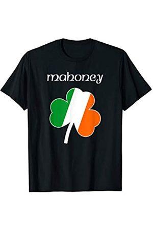 Irish Surname Family Apparel Gifts Mahoney Irish Last Name Gift Ireland Flag Shamrock Surname T-Shirt