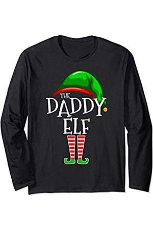 The Christmas Elf Family Holiday Gift Apparel Co. Daddy Elf Family Matching Group Christmas Gift Dad Men Funny Long Sleeve T-Shirt