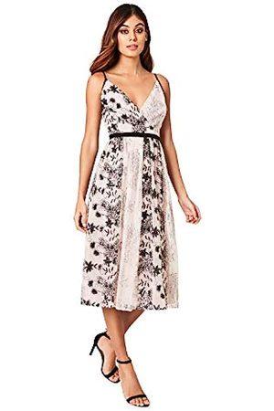Little Mistress Women's Tabitha Mink Vintage Lace and Sequin Midi Dress Party, 001