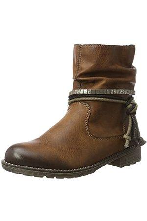 Rieker Girls' K3458 Biker Boots, (Chestnut 24)