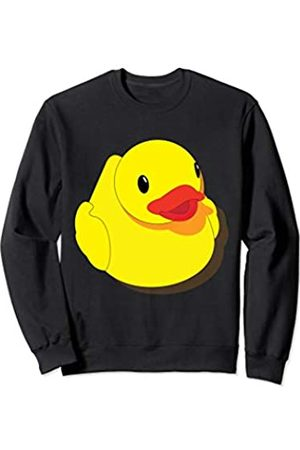 Maple Rubber Duck Cute Rubber Duck Emoji Men Women Kids Sweatshirt