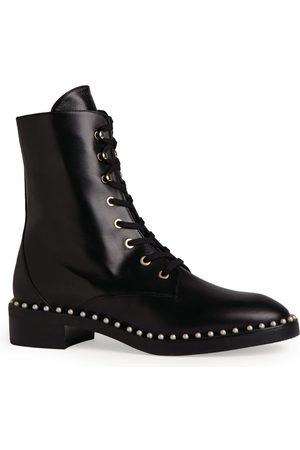 Stuart Weitzman Leather Sondra Combat Boots 30