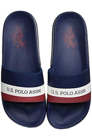 U.S. Polo Assn. US Polo Association Men's Aquarius Flip Flops, (Dk Bl/WHI 036)
