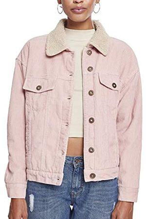 Urban classics Women's Ladies Oversize Sherpa Corduroy Jacket
