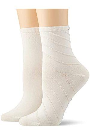 Tommy Hilfiger Women's Th Short Sock 2p Open Bias Ankle