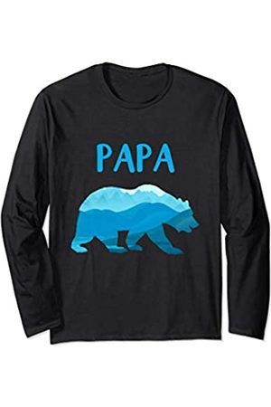 Noodle Bean Apparel Papa Bear - Dad Gift for Men and Father's Day Long Sleeve T-Shirt