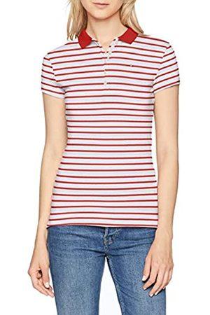 Tommy Hilfiger Women's New Chiara Str Pq Polo Ss Shirt, (Breton STP/True 613)