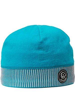 Giesswein Sports Beanie Kugelhorn Cyan ONE - 100% Merino Wool Cap, Sports Cap for Men & Women, Warm Fleece Lining Inside