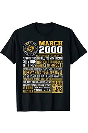 March birthday gifts Proud Born March Pisces 2000 birthday gifts T-Shirt