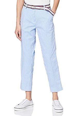 Tommy Hilfiger Women's Cotton Stretch Striped Slim Pant Jeans, (Ithaca STP/ - 0Ya)