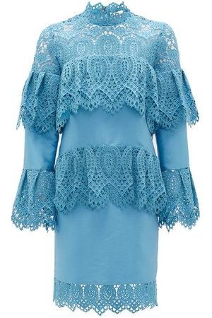 Erdem Lyndell Layered Guipure-lace & Mikado Satin Dress - Womens