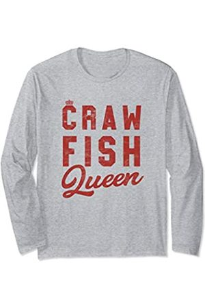 The Cajun & The Crawfish Crawfish Queen Womens Sothern Festival Long Sleeve T-Shirt
