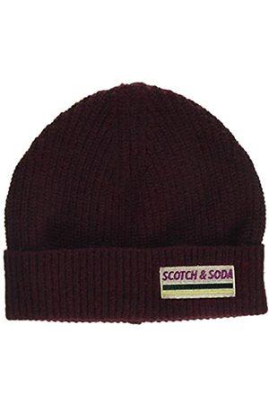 Scotch&Soda Men's Rib Knit Beanie in Soft Wool-Blend Baseball Cap