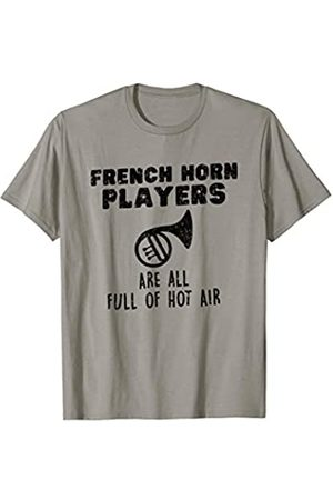 Marching School Band French Horn Player Funny Marching Brass Band French Horn T-Shirt