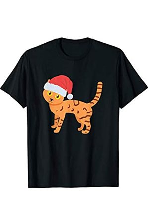 Cat Lovers Christmas Tees Cat Lover, Cat wearing Santa hat