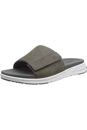 FitFlop Men's Sporty Slides Flip Flops, (Ss20 Gargoyle 810)