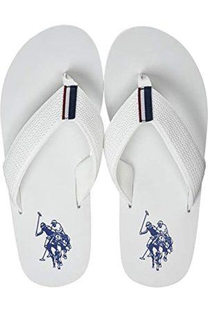U.S. Polo Assn. US Polo Association Men's Nettuno Flip Flops, (WHI 001)