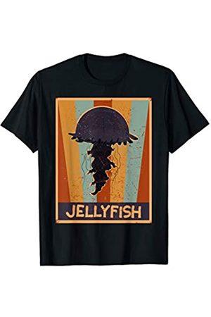 Funny Vacation Jellyfish Gift Ideas Kids Men Women Beach 70s Retro Jellyfishes Art Dress Gift Vintage Jellyfish T-Shirt