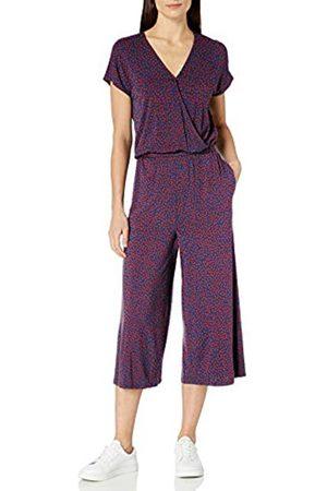 Amazon Short-Sleeve Surplice Cropped Jumpsuit