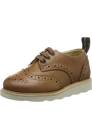 Young Soles Unisex Kid's Brando Brogues, (Tan Burnished 04)