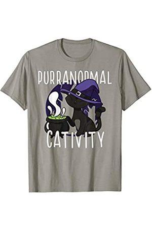 PURRANORMAL ACTIVITY Fun Stop Freaking Meowt Meme PURRANORMAL CATIVITY Paranormal Halloween Witch Cat Meme T-Shirt