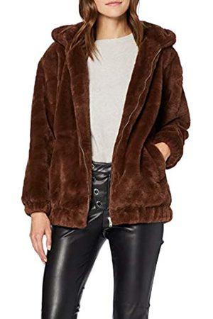 New Look Women's OP AW19 Frankie Fur Hooded BOM Bomber Jacket