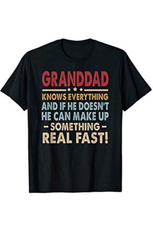Granddad Funny Saying Father's Day Christmas Gift Vintage Granddad Know Everything Father's Day Funny Xmas T-Shirt