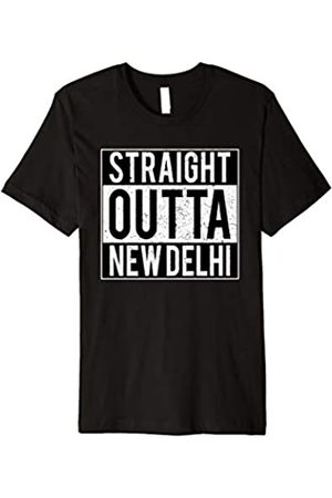 Funny Indian t shirts by Desi Rebels Indian Straight Outta NEW DELHI City t-shirt