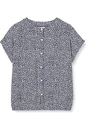 Tommy Hilfiger Girl's TOP S/S T-Shirt, (Twilight Navy/Ditsy Flower Print 0GY)