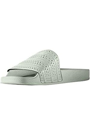 adidas Men's Adilette Beach & Pool Shoes, (Lindgrün)