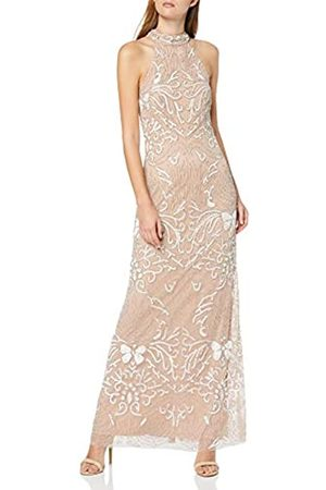 Frock and Frill Women's Hope Sleeveless High Neck Embellished Maxi Dress Party