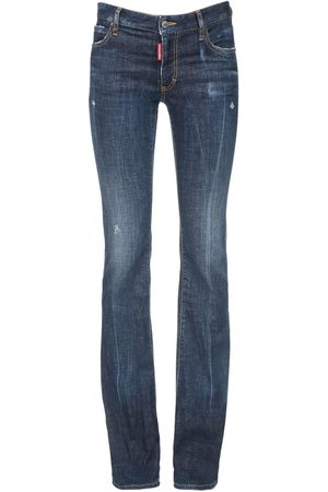 Dsquared2 Flared Stretch Cotton Jeans