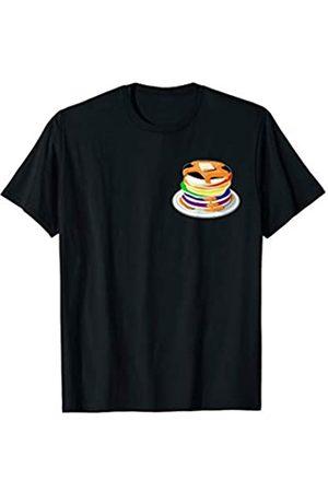 Flapjacks Hotcakes Crepes LGBT 19 - Crush Retro Straight Ally LGBTQ Buttermilk Pancakes Pocket Gay Pride T-Shirt