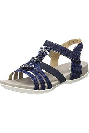 Rieker Girls' K2273 T-Bar Sandals, (Royal 14)