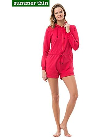ZIPUPS Women's Hooded Long Sleeve Trousers Red Coral L
