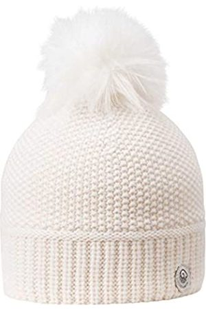 Giesswein Pom-pom Beanie Riegerberg Nature ONE - Women Beanie in fine Merino Wool & Cashmere, Ladies Cashmere Beanie, Bobble hat with Synthetic Fur Bobble