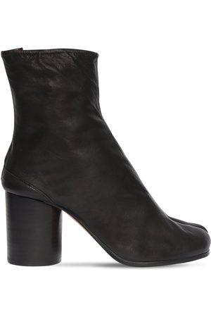 Maison Margiela 80mm Tabi Vintage Leather Ankle Boots