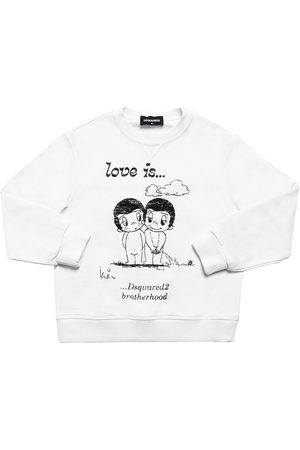 Dsquared2 Love Is Capsule Print Cotton Sweatshirt