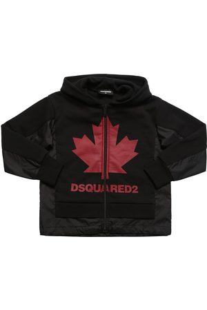 Dsquared2 Boys Sweatshirts - Leaf Cotton & Nylon Zip-up Sweatshirt