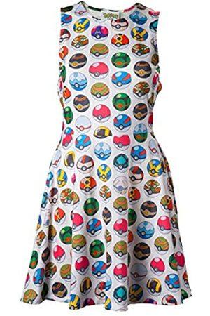 Meroncourt Women's Pokemon Woman's All-Over Pokeball Printed Sleeveless Dress, Medium (Fd270622Pok-M)