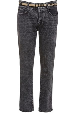 Stella McCartney Eco Denim Skinny Boyfriend Jeans W/ Belt